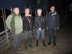 """De fire som hadde notert flest besøk i bøkene """"Finn Åsen"""". Fra venstre; Paal runden, Rune Amundsen, Åse Moen og Ole Ivar Moen"""