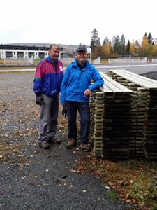 Dagens produksjon - 37 gangbaner. Magne Wendel og Ingvar Aandalen