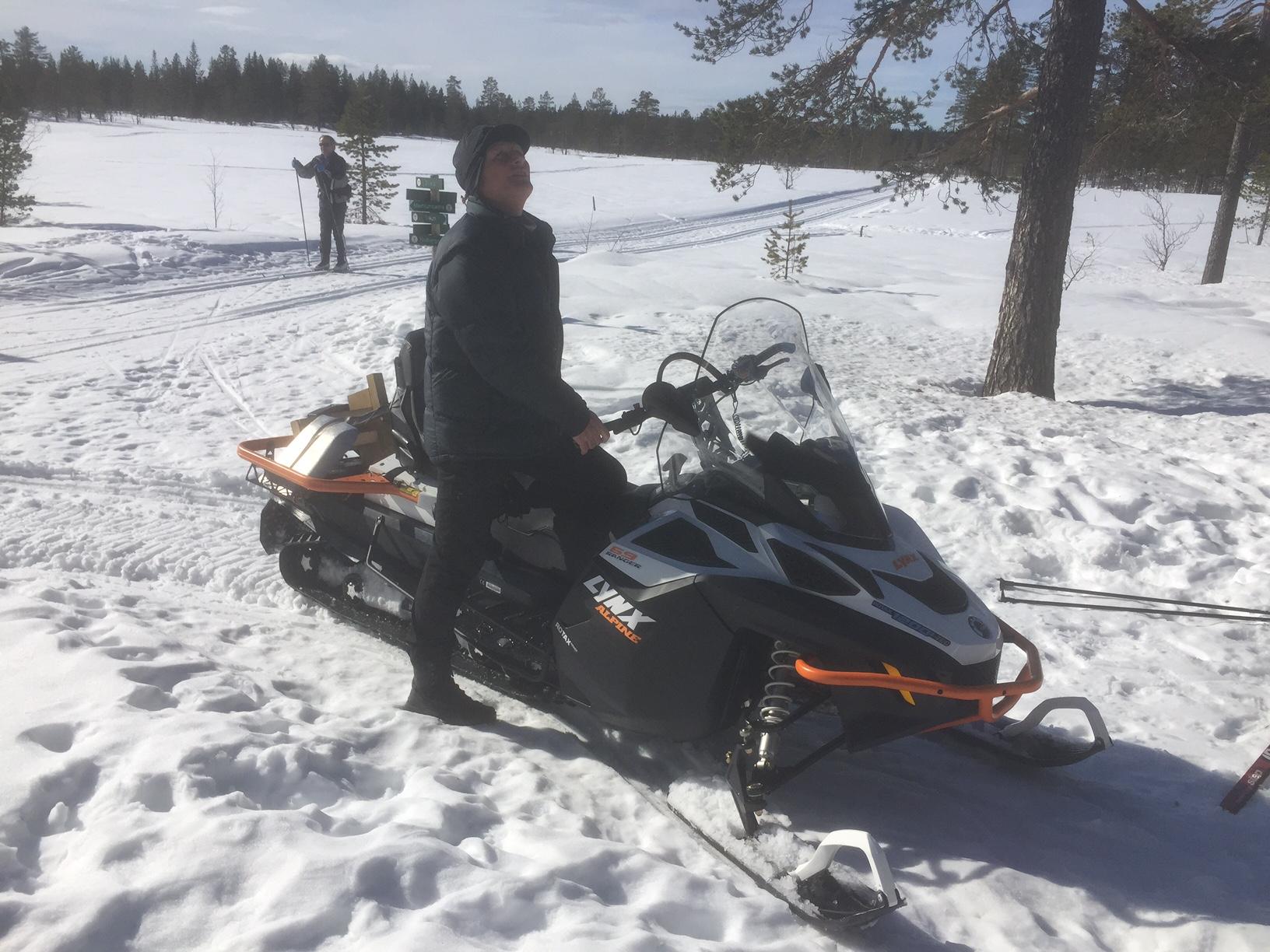 Roar Myhre med ny scooter