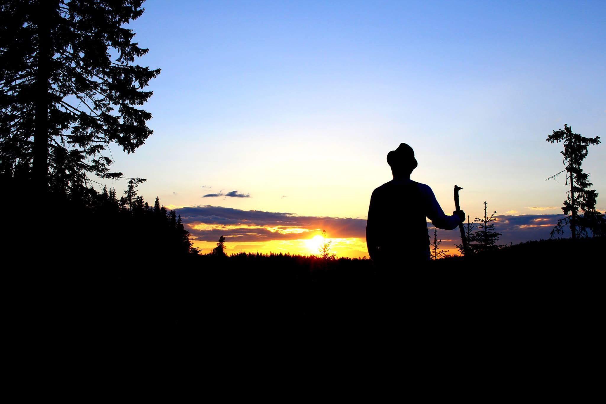 Solnedgang mot Rørmyra